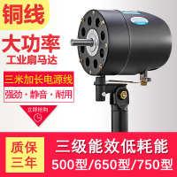 工业风扇电机大功率牛角扇落地壁挂扇配件纯铜机头650750强力马达