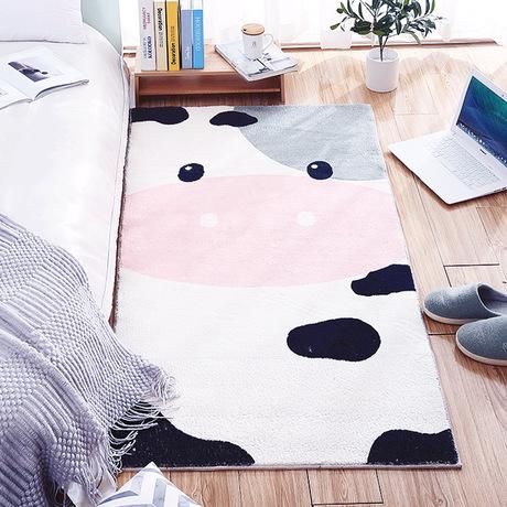 地毯卧室床边毯家用卡通ins床前垫子客厅茶几沙发儿童榻榻米地垫