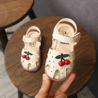 女宝宝凉鞋1-2-3-5岁小女孩可爱樱桃鞋子女童韩版包头夏季公主鞋