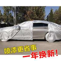 汽车喷漆专用遮蔽车衣通用车罩18拉链分体车衣防静电牛津布轮毂罩