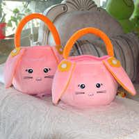 儿童宝宝可爱玩具糖果小女孩童出游毛绒手提拎手拿篮子水果零食包