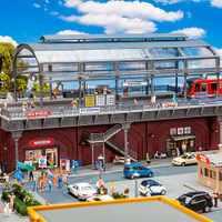 [补货中]FALLER建筑模型120580HO轻轨站夜市地摊