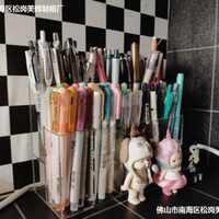 收纳盒笔架亚克力笔筒学生文具铅美术桌面收纳简易办公用品彩创意
