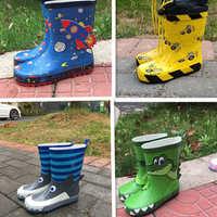 【瑕疵处理】儿童雨鞋男童防滑雨鞋天然橡胶可爱柔软舒适卡通雨鞋