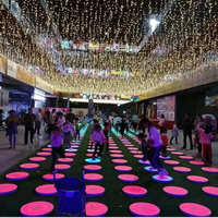 厂家定制异形地板钢琴发声地板钢琴彩色跑LED钢琴地砖灯脚踩感应
