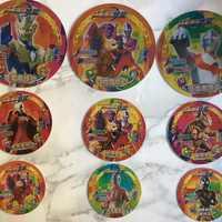 包邮儿童游戏对战吃鸡圆卡塑料卡奥特人格圆形卡加厚纸卡牌多款选