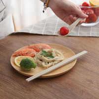 小麦秸秆滑筷子家用日式勺子套装麦霉长