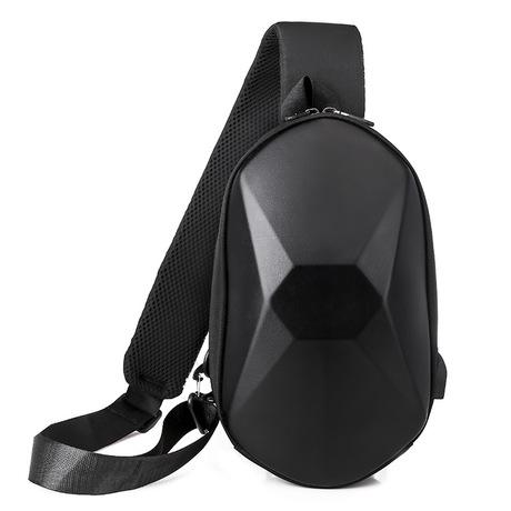 男士胸包简约斜跨包男2020新款日系休闲百搭胸包充电USB挎包