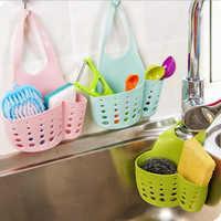 可调节水槽收纳挂篮按扣式厨房置物架水龙头海绵沥水架收纳篮