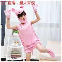 跨境儿童节幼儿园小猪装扮服粉色猪佩琪卡通舞台服演出服