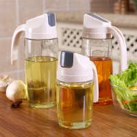 3267玻璃油壶家用防漏油瓶厨房自动开合带盖调味瓶油醋瓶油罐壶K