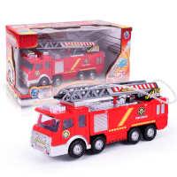 跨境儿童玩具电动消防车可喷水电动万向仿真声音灯光救火喷水车