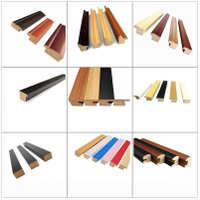简约木质相框线条装饰画密度板包覆线条黑色油画边框材料2515