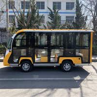 电动四轮观光车旅游景区游览车巡逻车8-14座公园敞篷电瓶车看房车