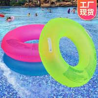 义乌工厂跨境成人游泳圈PVC充气泳圈水晶荧光游泳圈救生圈定制