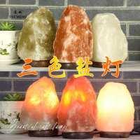 喜马拉雅水晶盐灯包邮天然矿盐创意欧式小台灯卧室风水装饰盐灯