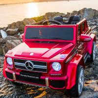 奔驰大g儿童电动车四轮遥控汽车4驱男女小孩宝宝玩具车可坐双人座