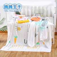 可爱卡通印花柔软舒适包裹巾婴幼儿浴巾110*110cm双层竹纤维童被