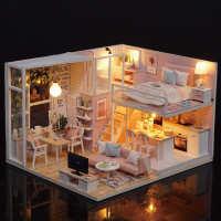 高档少女心艺术diy小屋手工创意拼装房子别墅模型儿童玩具生日礼