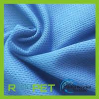再生涤纶面料RPET针织鸟眼布RPET服装面料再生环保运动服面料