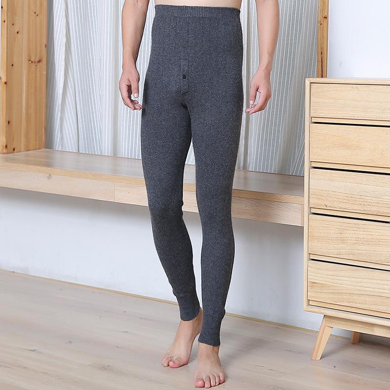 秋冬羊毛裤男女士加厚保暖打底高腰冬季修身薄款羊毛裤棉秋裤