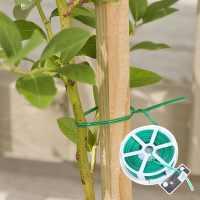 园艺包塑铁丝绑枝绑线植物固定软扎线铁芯扎带扎丝自带切割剪断器