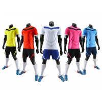 高品质透气吸汗足球服套装男女定制diy校园足球训练比赛队服批发