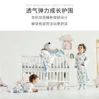 男孩小童薄款宝宝睡袋纯棉夏季空调轻薄睡觉透气婴儿睡袍简易连体
