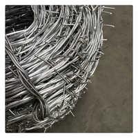 热镀锌铁刺线双股镀锌刺绳镀锌刺丝带刺铁丝网包塑镀锌刺铁丝