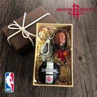 。篮球挂件钥匙扣原创设计个性男生创意小礼品篮球库里科比詹
