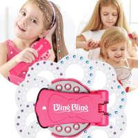 彩妆玩具blingbling钉钻机女孩过家家贴钻机玩具blinger