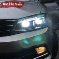 新速腾大灯总成12-18新速腾改装光导日行灯双光透镜led氙气大灯