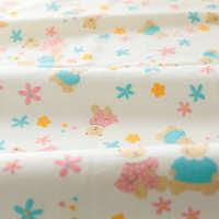 全棉有机棉宝宝婴儿A类针织棉布睡衣秋衣服装棉纱布纯棉布料面料