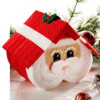 十字绣立体绣手工纸巾盒毛线绣圣诞老人纸抽盒客厅抽纸盒材料