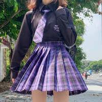 甜心风暴JK制服裙正版暗黑系不良jk格裙全套秋冬季套装女长袖衬衫