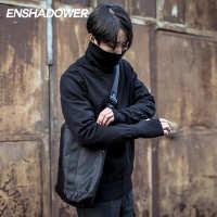 ENSHADOWER隐蔽者高领毛衣男夏瀚宇同款针织衫简约长袖男毛线衣机