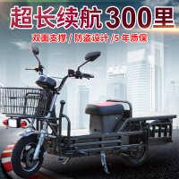载重王电动车72V96v拉货载货电瓶车电动摩托车外卖送货路霸铁皮车