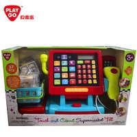 playgo贝儿童收银机玩具过家家套装礼物收银台仿真超市3232