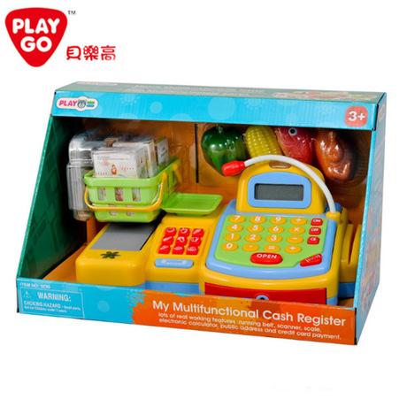 正版PLAYGO多功能收银机3230儿童过家家仿真角色扮演玩具